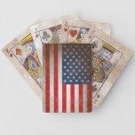 Naipes Antiqued de la bandera americana del estilo Cartas De Juego