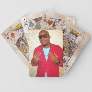 Naipes apenados de la edición barajas de cartas