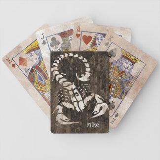 Naipes apenados del escorpión cartas de juego