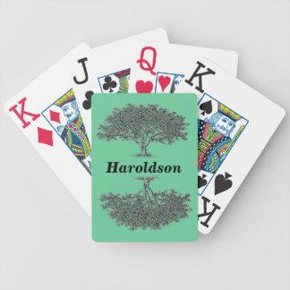 Naipes - árbol de la genealogía baraja de cartas