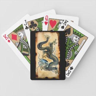 Naipes asiáticos del arte de la fantasía del dragó barajas de cartas