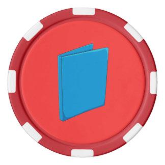Naipes azules de encargo del saludo de la carpeta fichas de póquer