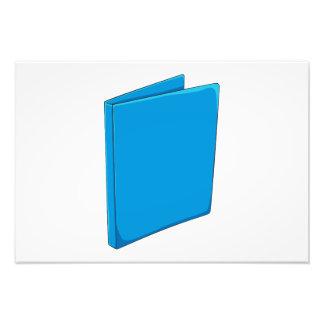 Naipes azules de encargo del saludo de la carpeta fotografía