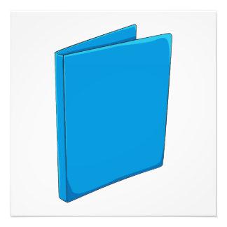 Naipes azules de encargo del saludo de la carpeta arte con fotos