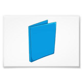 Naipes azules de encargo del saludo de la carpeta foto