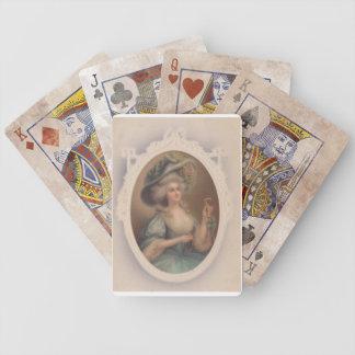 Naipes azules de la condesa cartas de juego