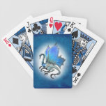 Naipes azules del dragón cartas de juego