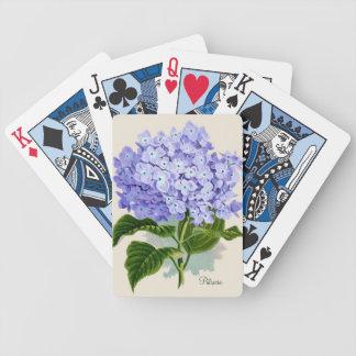 Naipes azules del Hydrangea Cartas De Juego