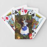Naipes azules del ratón del coro baraja cartas de poker