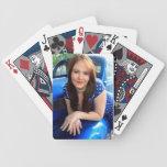 Naipes azules del vintage baraja cartas de poker
