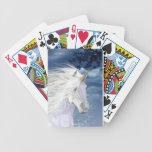 Naipes blancos de Bicycle® del ángel de la belleza Baraja De Cartas