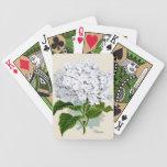 Naipes blancos del Hydrangea Baraja De Cartas