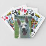 Naipes blancos del perro de pastor alemán cartas de juego