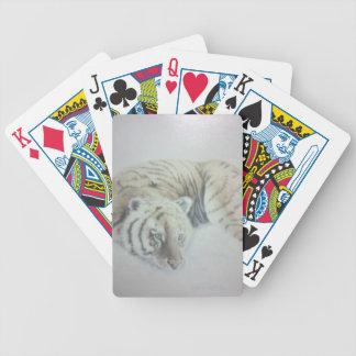 Naipes blancos del tigre baraja