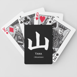 Naipes blancos w del kanji de la montaña baraja cartas de poker