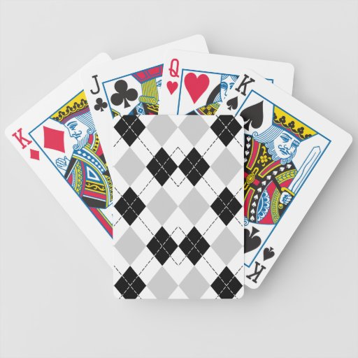Naipes blancos y grises negros de Argyle Baraja Cartas De Poker
