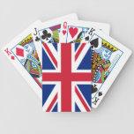 Naipes británicos de la bandera barajas de cartas