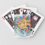 Naipes celestiales de Sun y de la luna Baraja Cartas De Poker