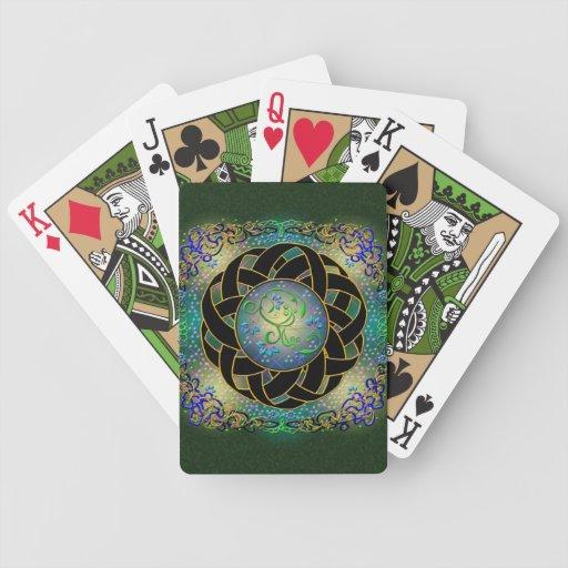 Naipes célticos del diseño baraja cartas de poker