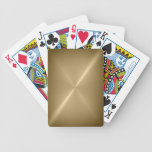 Naipes cepillados del metal del oro barajas de cartas