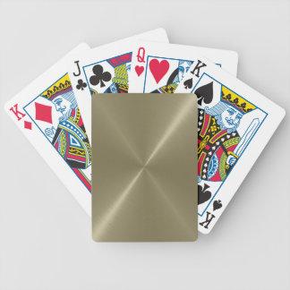 Naipes cepillados del metal del oro baraja de cartas