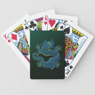 Naipes chinos de Bicycle® del ornamento del dragón Baraja Cartas De Poker