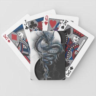 Naipes chinos del dragón de Yin Yang Baraja Cartas De Poker