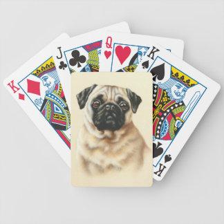 Naipes chinos del perro del barro amasado del cerv baraja cartas de poker
