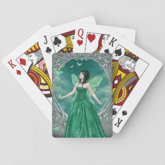 Naipes clásicos de hadas esmeralda de Birthstone