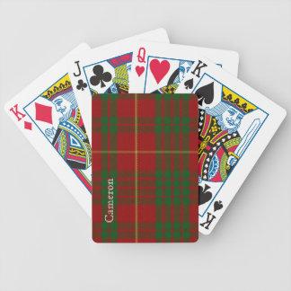 Naipes clásicos de la tela escocesa de tartán de C Barajas De Cartas
