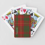 Naipes clásicos de la tela escocesa de tartán de C Barajas