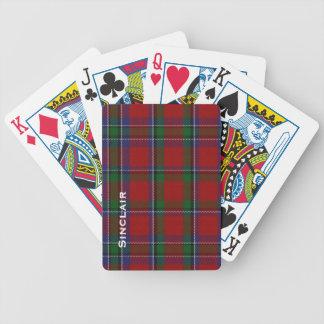 Naipes clásicos de la tela escocesa de tartán de l cartas de juego