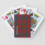 Naipes clásicos de la tela escocesa de tartán de l baraja cartas de poker