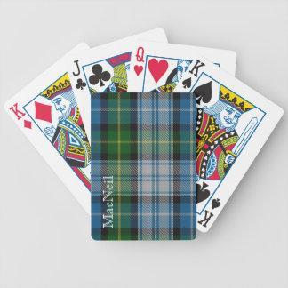 Naipes clásicos de la tela escocesa de tartán de M Barajas De Cartas