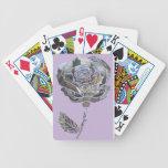 Naipes color de rosa del arte cartas de juego