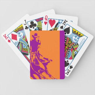 Naipes coloridos de Holdem del póker del vaquero o Barajas De Cartas