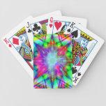 Naipes coloridos de la estrella cartas de juego