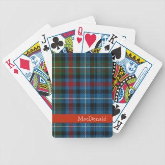 Naipes coloridos de la tela escocesa de tartán de  baraja cartas de poker