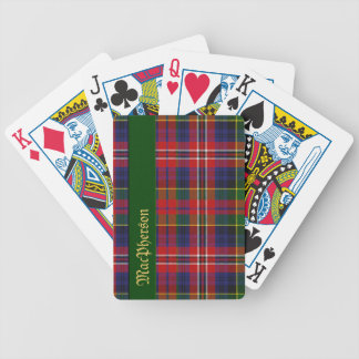 Naipes coloridos de la tela escocesa de tartán de  baraja