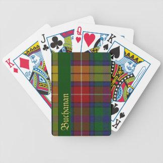 Naipes coloridos de la tela escocesa de tartán de  barajas
