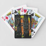 Naipes coloridos del estilo de la estatua hawaiana baraja cartas de poker