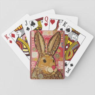 Naipes con diseño brillante del conejo