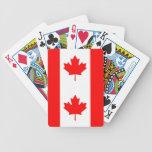 Naipes con la bandera de Canadá Barajas De Cartas
