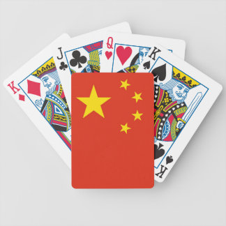 Naipes con la bandera de China Baraja
