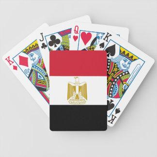 Naipes con la bandera de Egipto Barajas De Cartas