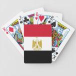 Naipes con la bandera de Egipto Cartas De Juego