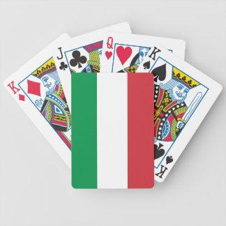 Naipes con la bandera de Italia Barajas De Cartas