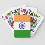 Naipes con la bandera de la India Baraja De Cartas