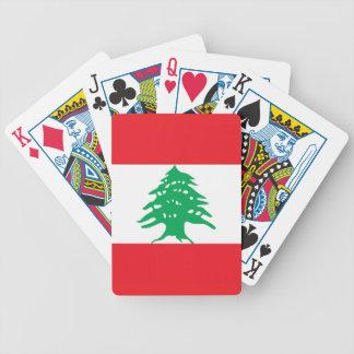 Naipes con la bandera de Líbano Baraja De Cartas