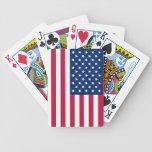Naipes con la bandera de los E.E.U.U. Baraja